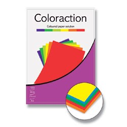 Coloraction A4/ 80g/100 barevný mix - intenzivní