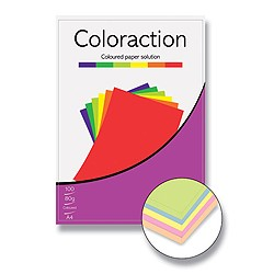 Coloraction A4/ 80g/100 barevný mix - pastelový