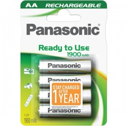 Nabíjecí AA - Panasonic Ready to Use AA NiMH 1900 (4 ks)