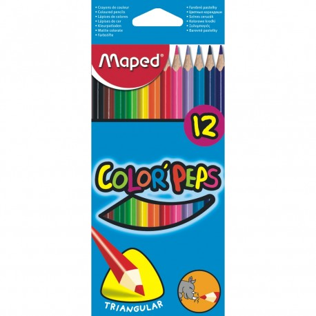 Pastelky Maped 12 ks Color`Peps